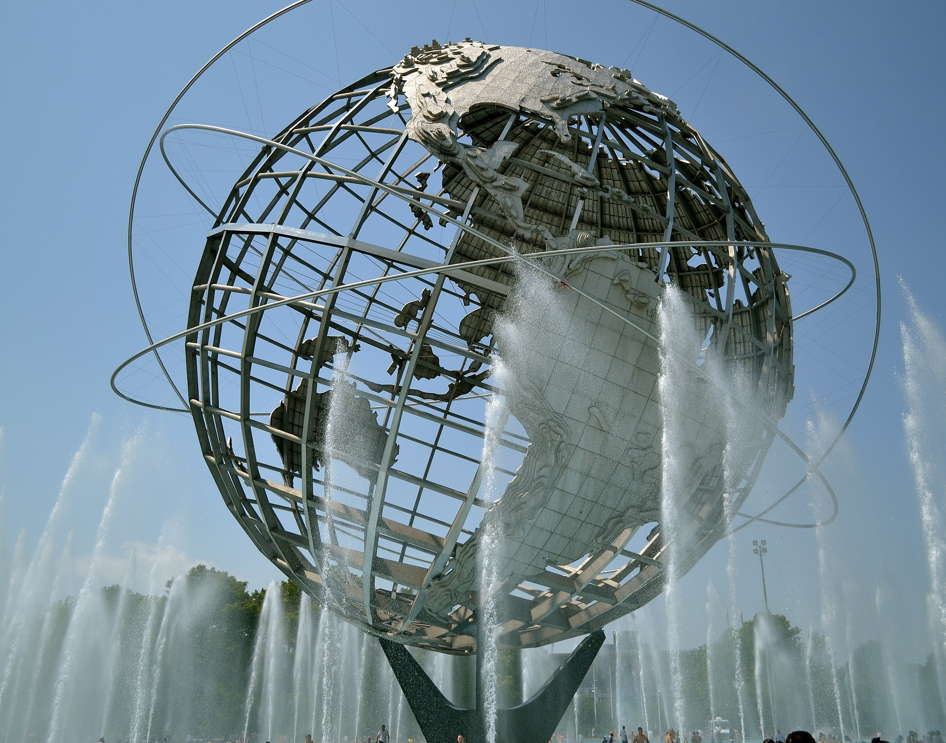 The Unisphere, a stainless-steel globe, which is the symbol of the 1964 World's Fair