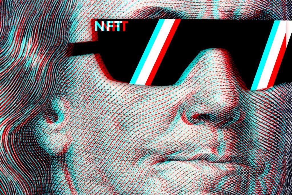 NFT. Digital art within blockchain